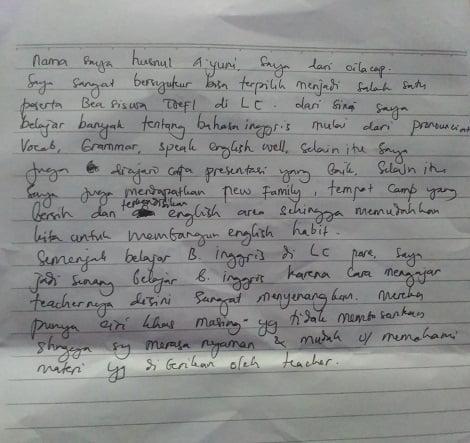 cerita alumni LC Kampung Inggris - Husnul A'yuni