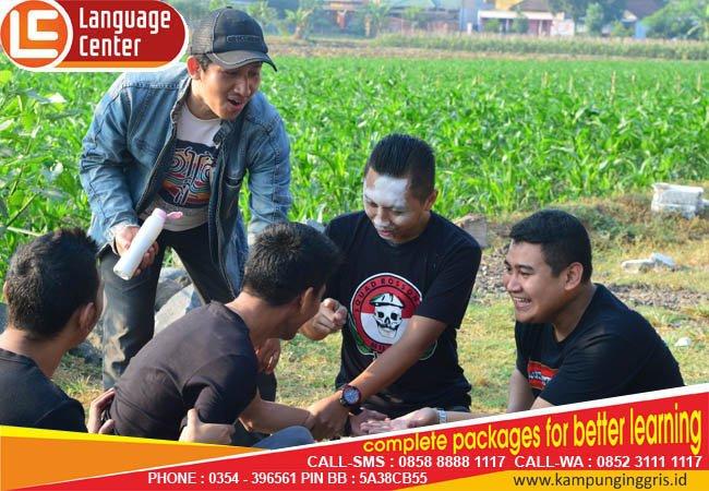 punishment games LC Kampung inggris