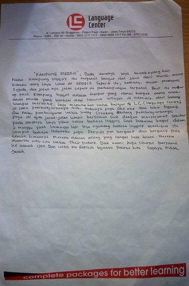 cerita alumni LC kampung inggris - ribiyanti