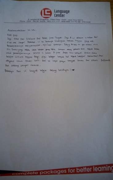 cerita alumni LC kampung inggris - eresa putri