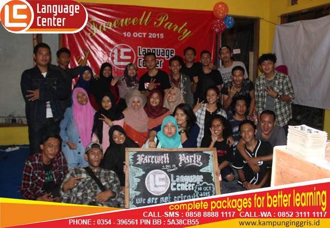 farewell party LC kampung inggris
