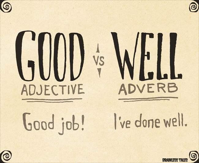 perbedaan penggunaan good dan well