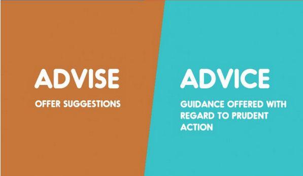 advise vs advice