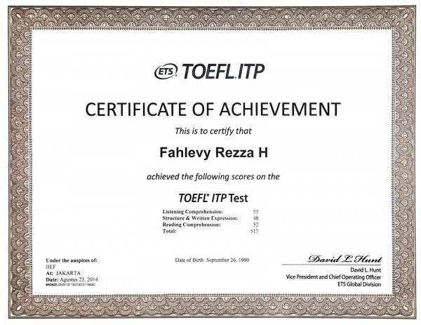 contoh sertifikat ITP