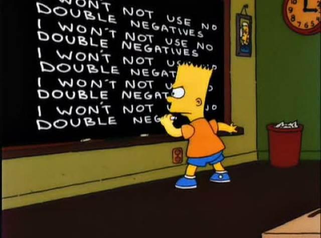 kalimat double negative