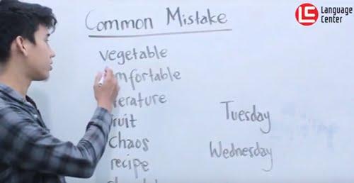 Common Mistake in English Pronunciation, TEATU Kampung Inggris LC