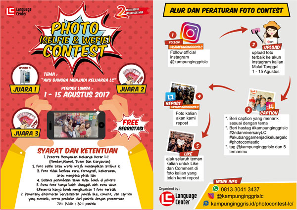 LC Photo Contest (Selfie/Wefie) 2017, LC Kampung Inggris Pare