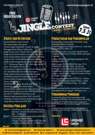 LC Jingle Contest 2017, LC Kampung Inggris Pare