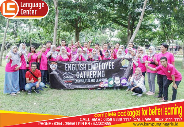 FUN Gathering of English Employee Putra Indonesia Malang in Kampung Inggris LC