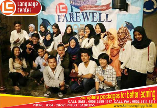 farewell party lc kampung inggris pare