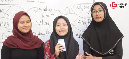 Sistem Belajar di LC Sangat Terstruktur (Aliya, Ladina, dan Yunina – English Master 14)