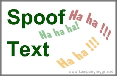 spoof text bahasa inggris