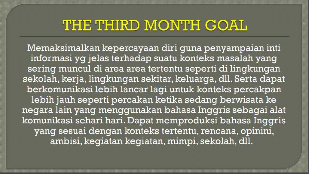 Goal English Master Kampung Inggris