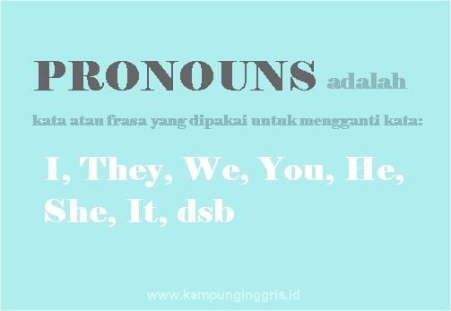Mengenal dan Memahami Beragam Pronouns dalam Bahasa Inggris