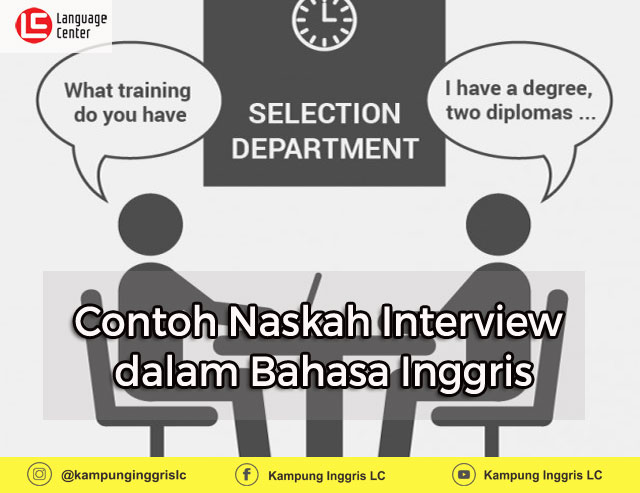 Contoh Naskah Interview dalam Bahasa Inggris dan Artinya