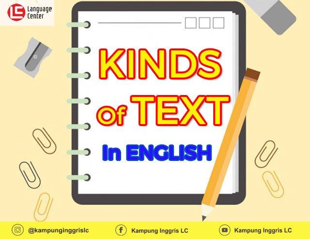 Jenis-Jenis Text dalam Bahasa Inggris dan Strukturnya
