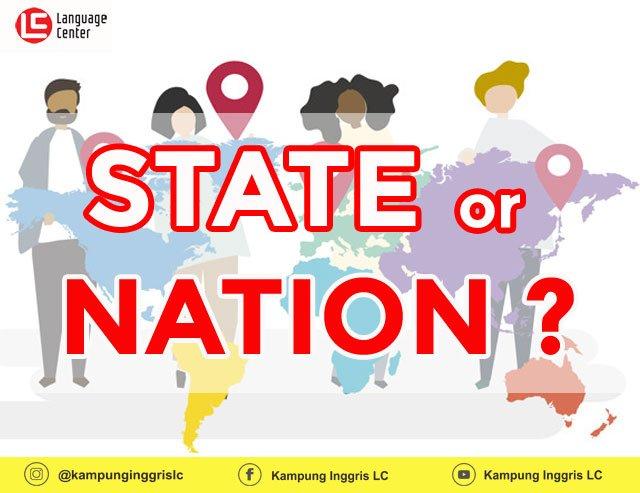 perbedaan kata state dan nation