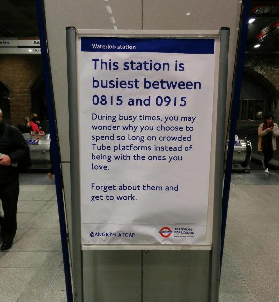 Contoh British Humour di Salah Satu Stasiun di London