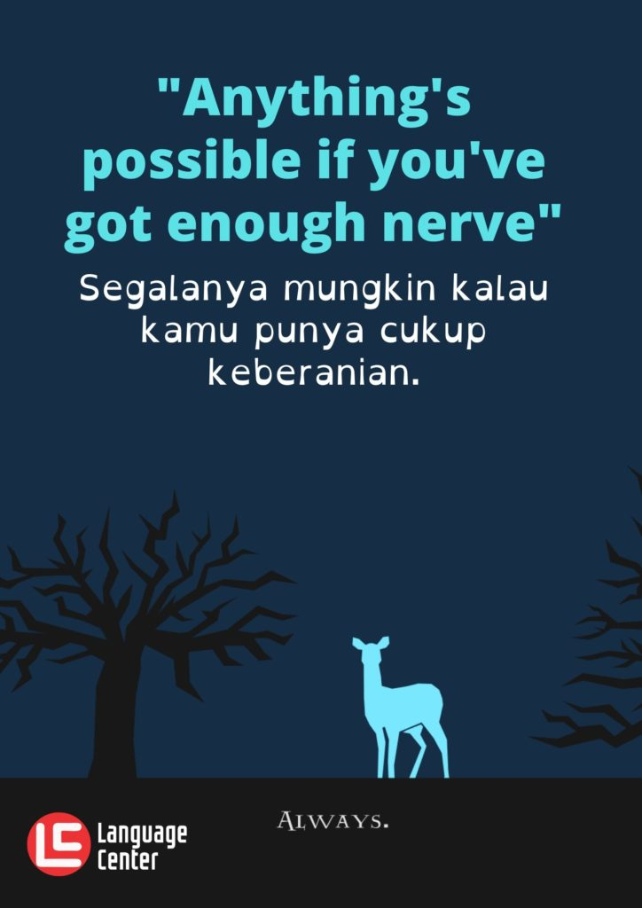 Kutipan 8 - Anything is possible...