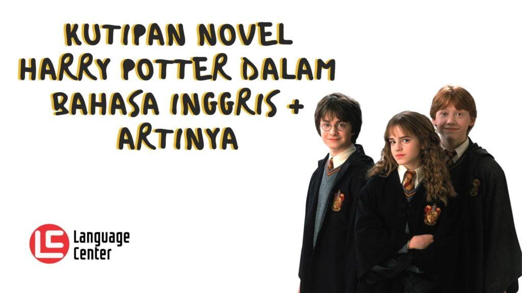 Kutipan Novel Harry Potter
