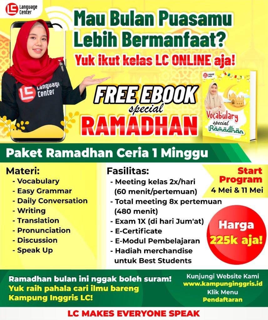 Paket Ramadhan Ceria Online 1 Minggu