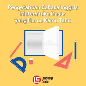 bahasa inggris matematika